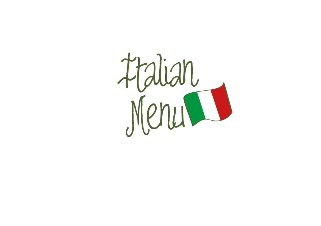 Italian menu - catering