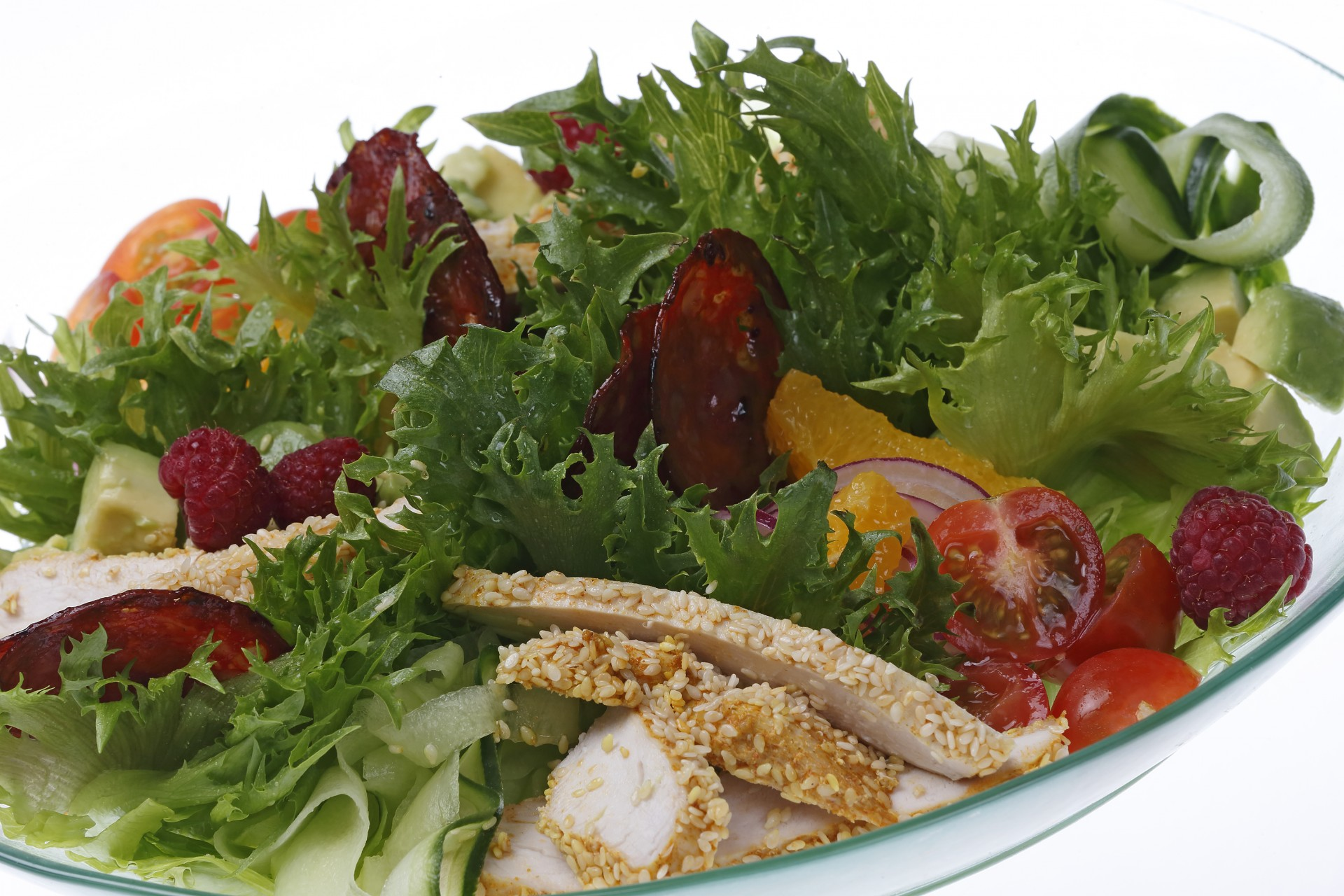 SESAM CHICKEN SALAD (L, GL)